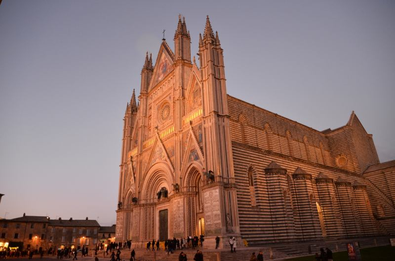 Orvieto Cathedral by night